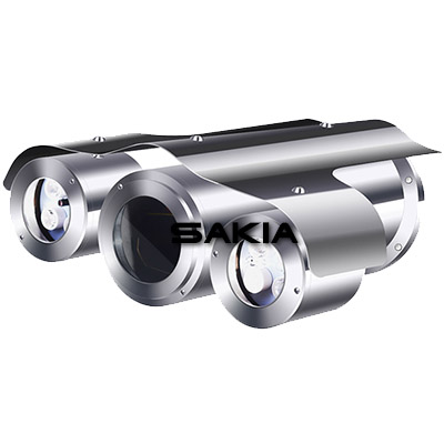 Long Range Night Vision Fixed Explosion Proof CCTV Camera Housing With IR Illuminator